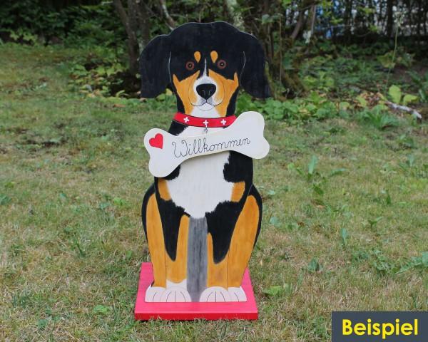 großer Hund nach Bild gefertigt