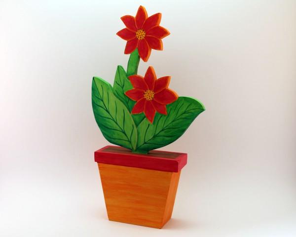sternförmige Blume in versch. Farben