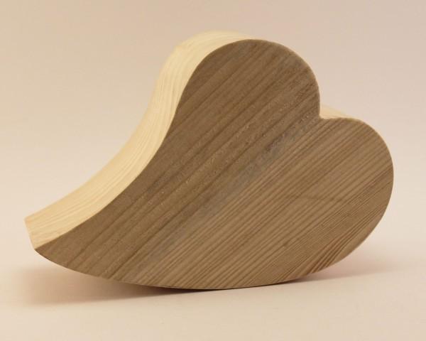 liegendes Herz aus Nadelholz 9,5 cm