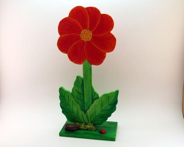 Blume mit Standplatte in versch. Farben