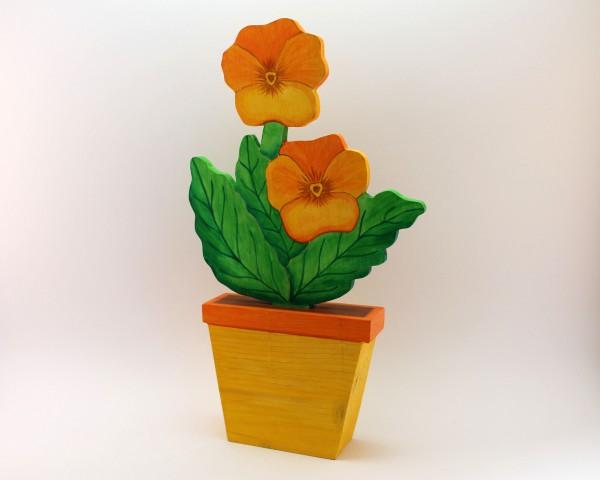 Blume im Topf in versch. Farben