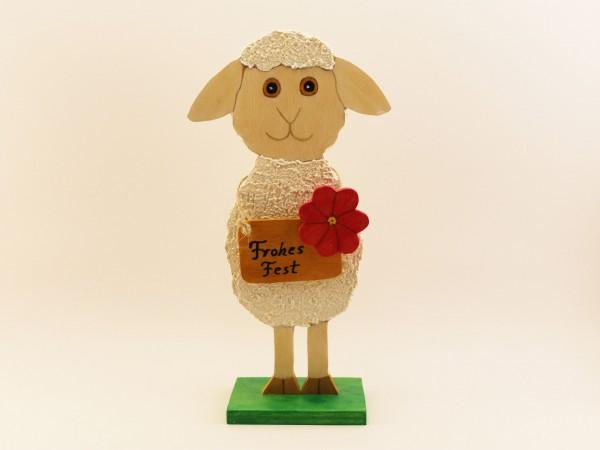 Schaf mit Schild